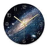 Sternenhimmel Wanduhr Universum Galaxy Stille Bewegung Wanduhr Kinderzimmer Museum Dekorative Uhr...