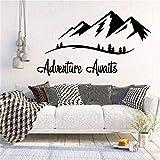 Abenteuer warten Wandtattoo Vinyl Mountain Travel Wandkunst Aufkleber Wohnzimmer Schlafzimmer Nordic...