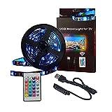 USB-TV-Hintergrundbeleuchtung, LED-Streifen, 5050 RGB-Beleuchtung, 3 Meter lang, mit Fernbedienung