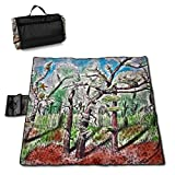 Dataqe Picknick-Matte, wasserdicht, extra groß, 144,8 x 149,9 cm, wasserdichte Rückseite, für...