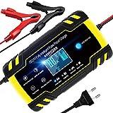 YDBAO Autobatterie Ladegerät 8A 12V 24V Auto Vollautomatisches Ladegerät mit LCD-Bildschirm für...