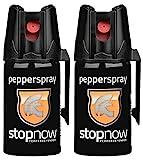 stopnow Pfefferspray Abwehrspray KO-Spray Selbstverteidigung Jet-Sprühstrahl (2 Spray -...
