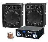 McGrey PA Komplettset DJ Anlage PowerDJ-2500 (System mit Partyboxen, Lautsprecher, 2 x 800 Watt,...