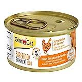 GimCat Superfood ShinyCat Duo Hühnchen mit Karotten - Katzenfutter mit saftigem Filet ohne...