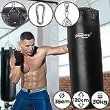 Boxsack für Erwachsene - gefüllt, Ø35cm, H120cm, Gewicht 30kg, inkl. 4-Punkt Stahlkette und...