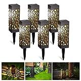 Kefflum Solarleuchte Garten LED Solarlampe Gartenleuchte für draußen 6 Stück Warmweiße LED Solar...