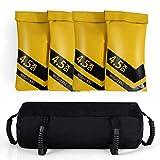 COSTWAY 18KG Sandbag, Power Bag inkl. 4 x 4,5 kg Sandsack, Gewichtssack mit 6 Griffen, Core Bag aus...
