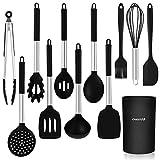 CHASSTOO Küchenhelfer Set Silikon, Antihaft Küchenutensilien Set, BPA-frei Küchengeräte...