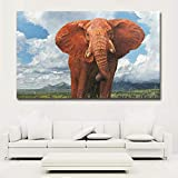 ganlanshu HD groe Blaue Himmel weie Wolke Tier Hintergrund Elefant lgemlde Wandbild Home Decoration...