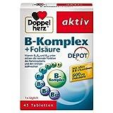 Doppelherz B-Komplex DEPOT mit Folsäure – B-Vitamine als Beitrag für die normale Funktion des...