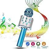 Karaoke Mikrofon, Drahtlose Bluetooth Mikrofon Tragbares Handmikrofon mit Lautsprecher und Aufnahme,...