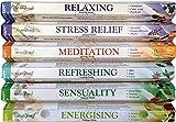 120 Sticks of Stamford Premium Aromatherapy Hex Range Incense Sticks - Relaxing, Stress Relief,...