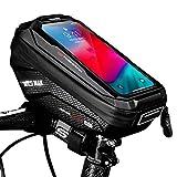 Faneam Fahrrad Rahmentasche Wasserdicht Lenkertasche für Fahrrad mit TPU Touchscreen und...