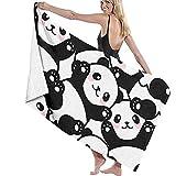 fdghjdfghjfhjd Strandtücher,Yogahandtücher Beach Towels for Women Men Cute Panda Pattern Bath...