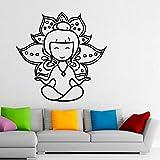 Tianpengyuanshuai Yoga Lotus Wandaufkleber Meditation abnehmbare Wohnkultur Wandaufkleber Wohnzimmer...
