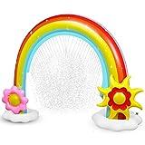 Anpro Regenbogen Bogen Sprinkler, Riesiger Wasserspiel Sprinkler, Sommer Garten Splash...