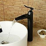 Bad Waschbecken Wasserhahn Wasserfall Wasserhahn Schwarz Hot & Cold Sink Wasserhahn Kranhahn Spüle...