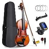 Vangoa 4/4 Violine Geige Akustische für Anfänger, Erwachsene und Kinder mit Violinenkoffer,...