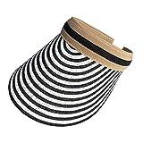 Ruda Koreanischer Stil Damen Strohhut geflochten leer Top Sonnenblende Hut Clip on Kontrastfarbe...
