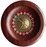 QSXF Tabelle Roulette Set Tischspiele Unterhaltung Freizeit Spaß Holz Roulette-Spiel Drehscheibe...