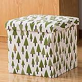 WYXR Faltbar Sitzhocker mit Stauraum Fußhocker Sitzwürfel Truhen Aufbewahrungsbox belastbar...