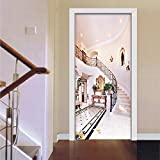 Tür Wandaufkleber 3D Treppen Türdekoration Aufkleber Wasserdichtes Türwandbild Pvc Selbstklebende...