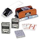 Nipach GmbH Pokerzubehör 3er Set Kartenmischer Kartengeber Plastikkarten Bundle dreiteilig Poker...