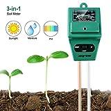 Longruner 3-in-1 Boden Feuchtigkeit Meter Bodentester Boden PH Test Soil Moisture Meter Lichtstärke...