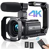Videokamera Camcorder 4K, MELCAM Video Camcorder 30FPS für YouTube Kamera 16X Digital Zoom 3.0'...