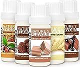 ALPHAPOWER FOOD® Vegan Natur- Aroma liquid Konzentrat, Geschmack 5x10ml Set, Flavour Drops,...