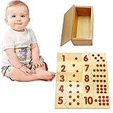 Catkoo Montessori Zahlen Puzzle Holzbretter Kinder Frühes Lernen Pädagogisches Spielzeug,...