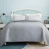Bedsure Tagesdecke 200x220 grau Schlafzimmer- Bettüberwurf 200 x 220 cm für Bett, Wohndecke aus...