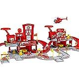 Ditzz Parkhaus Spielzeug, Feuerwehr Kinderparkplatz Simulation, Garage Spielzeugset Zusammengebaute...