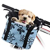 Faltbarer Fahrradkorb für Haustiere, abnehmbarer Fahrradträger für Fahrrad, Lenkerkorb vorne,...