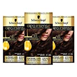 Schwarzkopf Oleo Intense Brown Haarfarbe, 3er Pack Permanente Ölfarbe, ohne Ammoniak, deckt Grau...