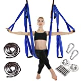 MANLI Clean Dell Yoga Hängematte Set Luftseide Yoga Set Safe Deluxe Aerial Kit Yoga...