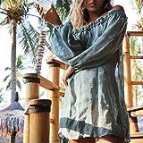 SHIJIAN Woman Beach Cover Up Off Schulter Manschette rmel Urlaub Rock Sun Cover Tunika Badeanzug,...