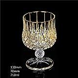 Dice Schlanke Taille Spur Gold Kristall Whisky Glas Trinkbecher Aquavit Chivas XO Weinglas Bar, Stil...