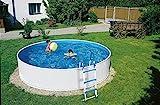 well2wellness Schwimmbecken Rundbecken Poolset Splash 300 x 90 cm inkl. Sandfilteranlage Azuro 2,...