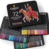 Castle Art Supplies – 72 Aquarellstifte für Erwachsene und Profis, hochwertige Künstlerstifte...