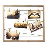 Cheers UG Bilderrahmen aus Holz 50 x 43 x 2,5 cm, Fotowand zum Anbringen von Fotos, Postkarten UVM,...