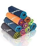 NirvanaShape ® DAS Reise-Handtuch für Backpacker, Urlauber & Traveller aus Microfaser| kompakt,...