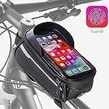Velmia Fahrrad Rahmentasche [Wasserdicht] - Fahrrad Handyhalterung ideal fürs Navi - Fahrradtasche...