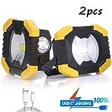 Tragbare Arbeits-Licht, wasserdichte Taschenlampe, Sonnenenergie-Licht-Scheinwerfer, Solar- Und USB...