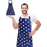WELLXUNK Schürze,Küchenschürze Damen Schürze Kochschürze,Schürze mit Tasche für Frauen Kochen...