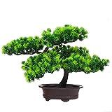 szdc88 Künstlich Pflanzen Bonsai Baum, Begrüßen Kiefer Baum Topf Schreibtisch Bildschirm...