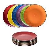 esto24 6er Set groe Speiseteller Porzellan Geschirr in tollen Farben fr Ihre liebsten Speisen...