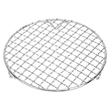 Heaveant Barbecue Net, Mehrzweck-Edelstahl-Backdraht Mesh Grill BBQ Net Mesh Barbecue Dampfgarer...