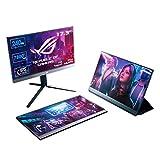 ASUS ROG XG17AHP 43,94 cm (17,3 Zoll) tragbarer Gaming Monitor (Full HD, 240Hz, integrierter Akku,...
