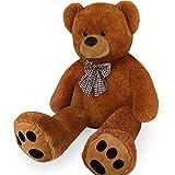 Deuba Riesen Teddy XL-XXXL Teddybär 100-175cm samtig weiches Kuscheltier Plüschbär Plüschtier...